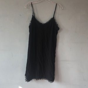 Express black slip dress